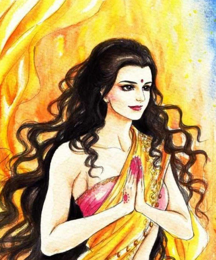 Yajñaseni ( Draupadi)   Her name was Yajñaseni. Maharshi Dhomya(धोम्य) had made her Avbhrat Snana.   Her birth was not a normal thing.   She was  अग्निजा (Born from Agni).   She did not have idea of mother's milk and she was not born for it.