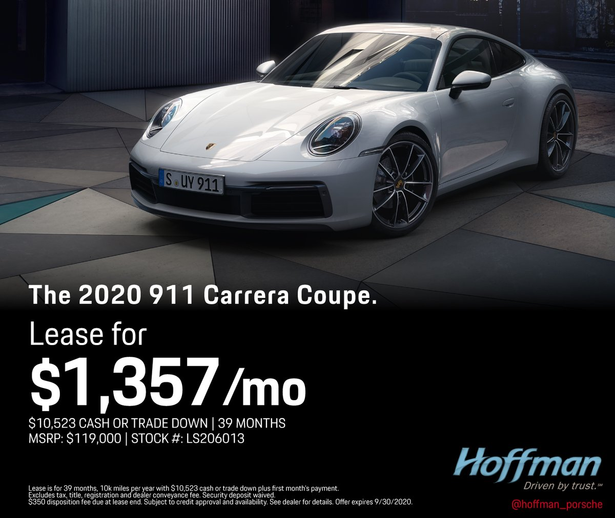Check out this lease on a 2020 Porsche 911 Carrera Coupe! In stock and ready to be delivered to your home or office! Check out our website for more lease offers. . . . #hartfordct #easthartfordct #ct #porsche #porsche911 #carrera https://t.co/uXXcwbLo4i