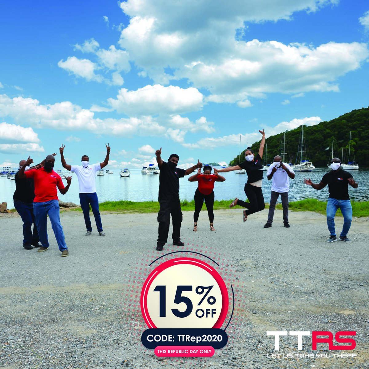🇹🇹 This Republic Day, TTRS will be offering Riders 15% off your rides with us! Simply apply the code TTRep2020. Offer valid September 24th, 2020 only. #ttrideshare #ttrs #letustakeyouthere #transportation #happyrepublicday #republicday #trinidadandtobago https://t.co/EyxbyDDwYY