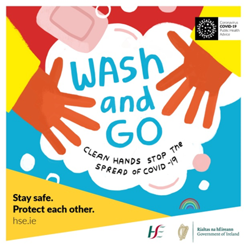 Clean hands stop the spread of COVID-19 – just wash and go. @HSELive #COVID19 #StaySafe #HoldFirm https://t.co/4s3kzXMMh8