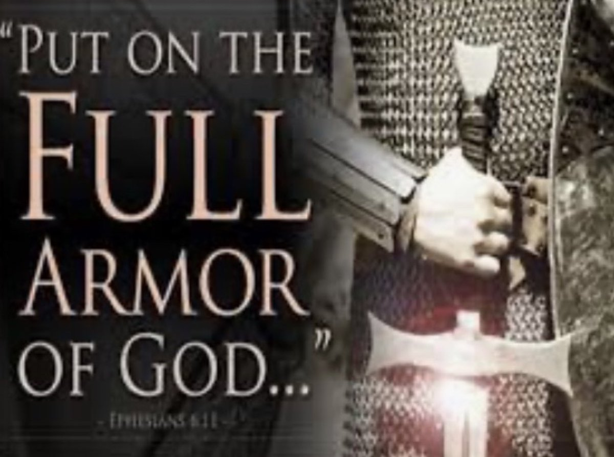 "10 ""Finally, be strong in the Lord and in his mighty power. 11 Put on the full armor of God, so that you can take your stand against the devil's schemes."" Ephesians 6:10-11 https://t.co/jdLn4pRzUD"