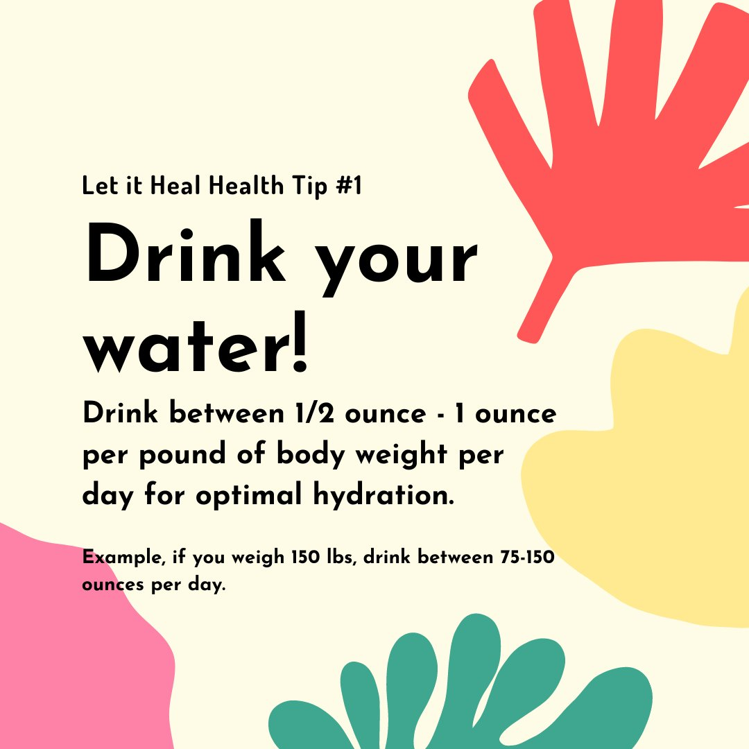 We'll be sharing health tips every Sunday to help you start living a healthier life! Try incorporating them into your week and share them with friends!  #dtburlon #letitheal #bowen #health #healthtip #water #villagesquare #detox https://t.co/KwiYKMtUeb
