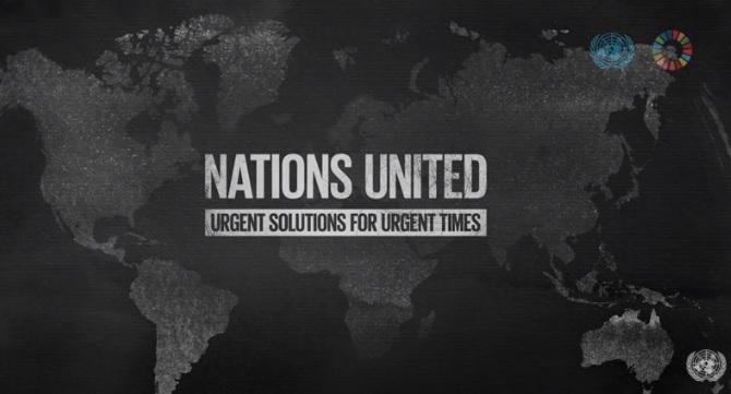"""O filme """"Nações Unidas: soluções urgentes para tempos urgentes"""" marca o 75º aniversário da ONU e os cinco anos dos #ODS. Confira, em inglês: https://t.co/54x93mgX3S. #NationsUnited #UN75 #RebuildingABetterWorld https://t.co/G3rdIexIW3"""