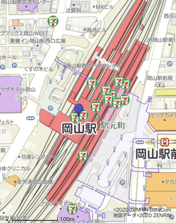 岡山駅構内に今までセブンイレブンは10店舗あったのですが、今回の駅ナカの改装で2店舗増え、合計12店舗となりました