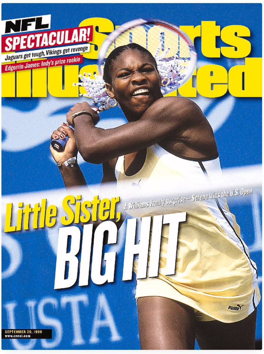 This woman @serenawilliams has been around for a minute. SI cover, 21 year ago today! https://t.co/PgZcA6QQl5