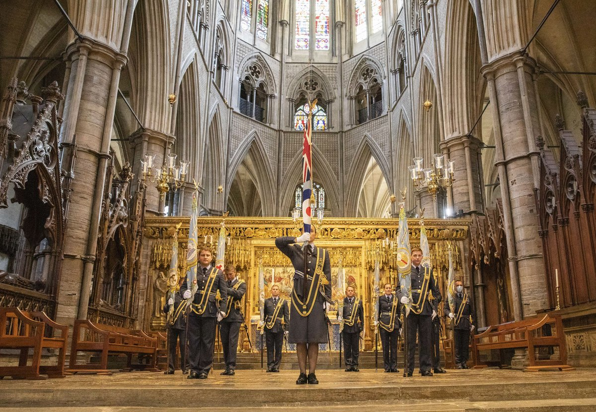 A Battle of Britain service was held at @wabbey today, with readings by @BorisJohnson & the @ChiefOfAirStaff, & a @RAFBBMF flypast. The event was reduced in stature but not spirit. It adhered to social distancing & limited attendees. 👉 bit.ly/2EheR7m #DetectAndDefend