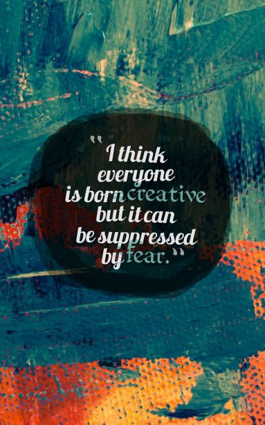 """""""I think everyone is born creative but it can be suppressed by fear."""" - Evan Spiegel #Creativity4Ed #21stCenturySkills #education #VAis4Learners #VA5Cs #Return2LearnVA #quote https://t.co/QuKTi8zcHH"""