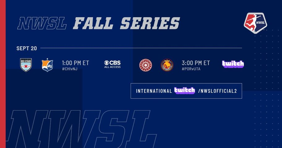 ⚽️ Sunday x2️⃣. Tune in! #NWSLFallSeries