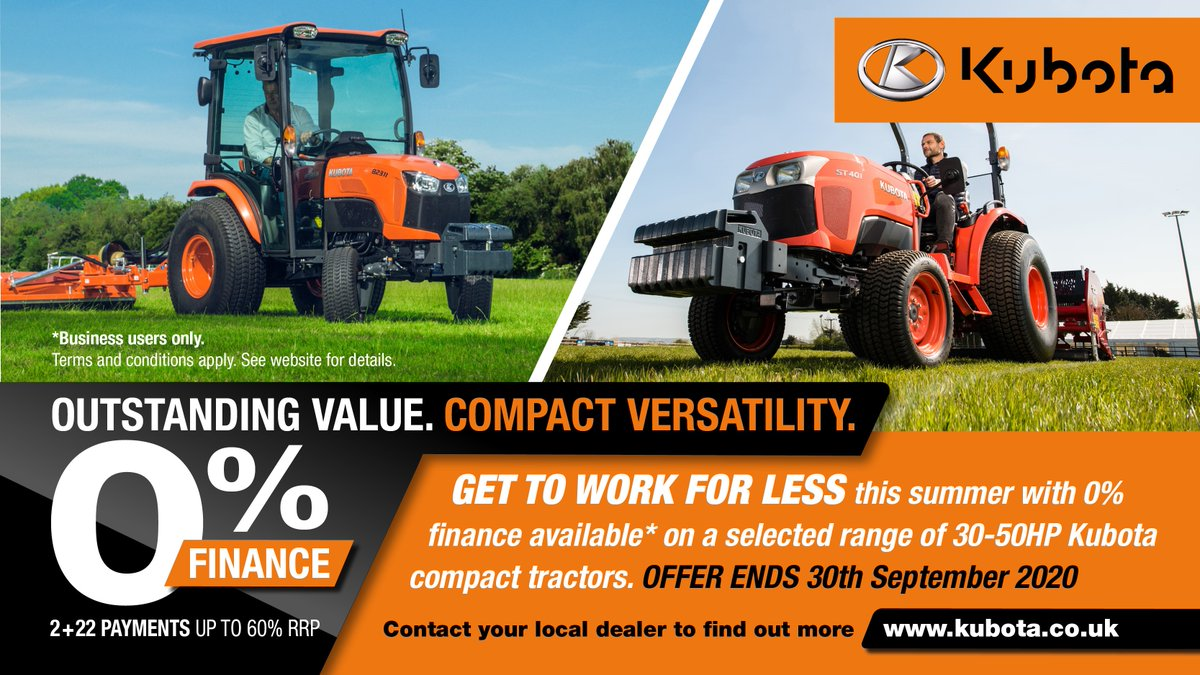👀Look great ofers on Kubota compact tractors, contact us to find out more about the range https://t.co/GXGlEyTJc9 #kubota https://t.co/SXssEXzvZt
