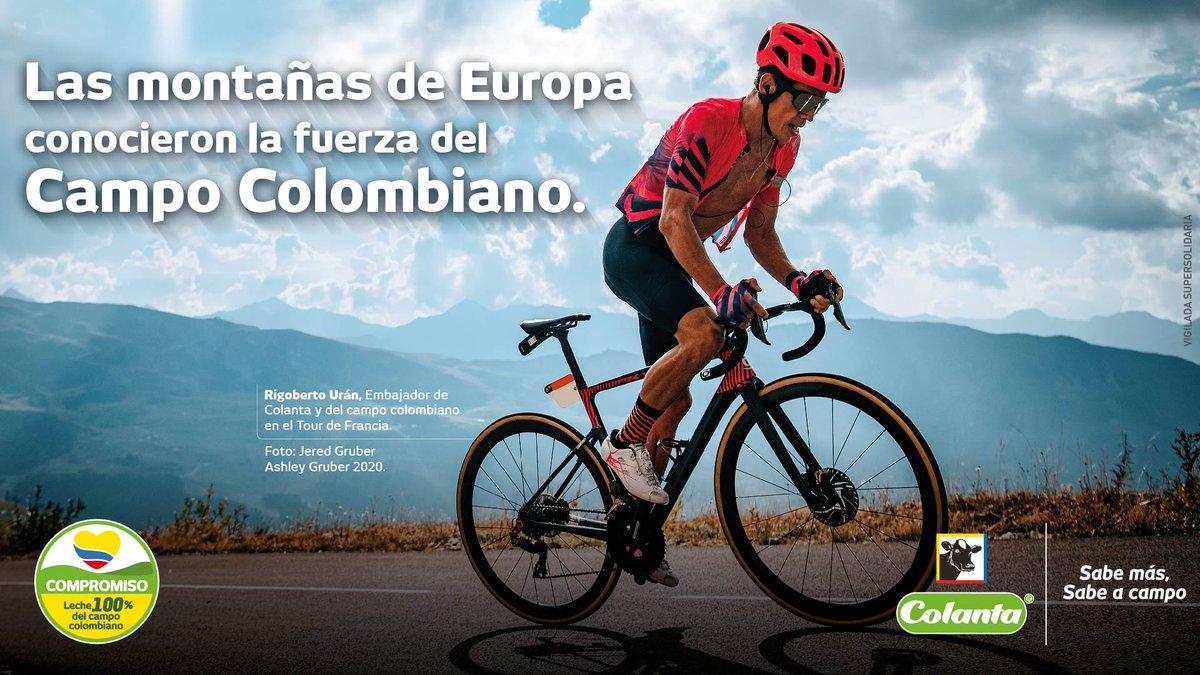 Hoy queremos rendir homenaje a los corredores colombianos que lo dejaron todo en el Tour de Francia. Gracias por las emociones y dejar nuestro país una vez más en alto.  #ColantaSabeACampo #TourDeFrancia #Tour #Ciclismo #TourDeFrance @UranRigoberto https://t.co/GnabB9UVgS
