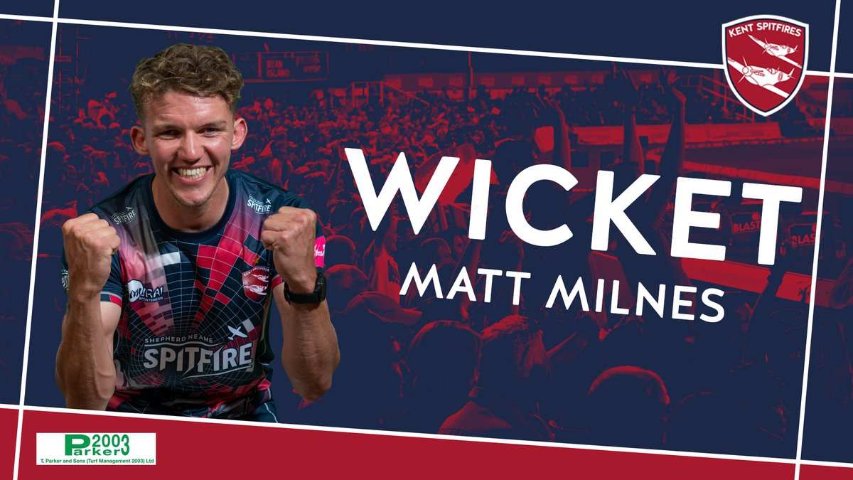 Milnes bowls Roy 💥  Off-stump cartwheels - Surrey are now 154/4 after 17.5 overs  LIVE Match Centre ➡️ https://t.co/lzn78Xxjg5 #SuperKent https://t.co/cWnMikz8KQ
