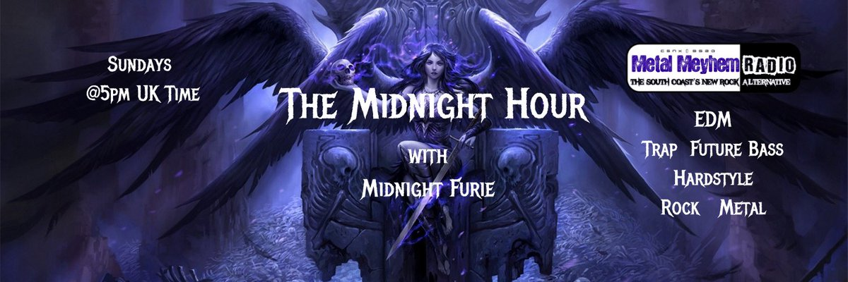 #Furieans On today's #TheMidnightHour #RadioShow #Trippy #Spooky  #ChemicalWaves  @kevens  #Trap #FutureBass #Industrial #Garage #AutumnEquinox #NewMusic #SundayVibes #IndieRadio #Furielicious  @metalmeyhem  @ChatsongMusic @ITHERETWEETER1 @936Arrow @dorner_martina @JeffA92234 https://t.co/Bsow6UqqJ3