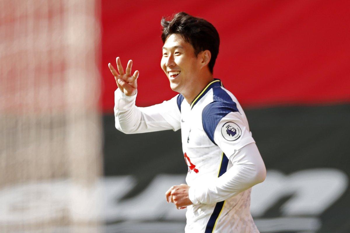 🇰🇷 Heung-min Son = 🔥🔥🔥  ⚽️⚽️⚽️⚽️🆚 Southampton 😱   #UEL | @SpursOfficial https://t.co/5lJVNvHZvA
