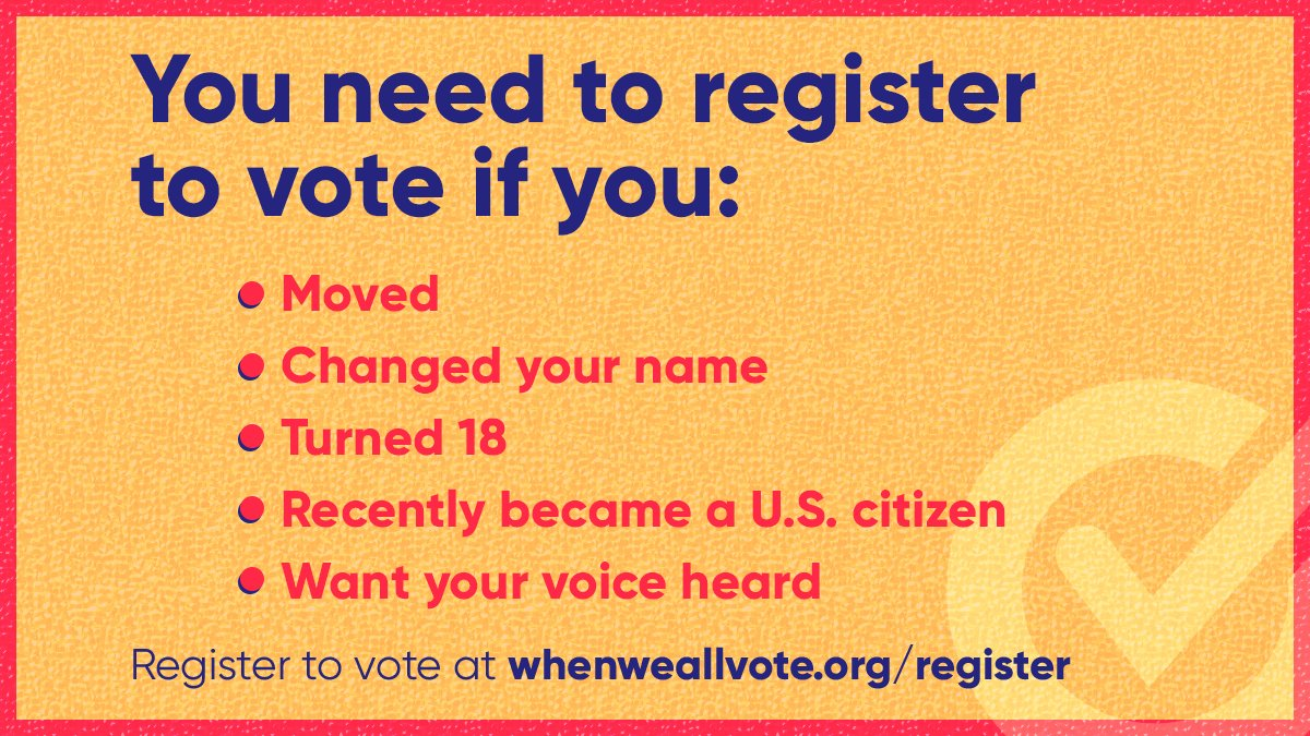 Voter registration deadlines are fast approaching! During our Week of Action, we're working to make sure everyone is registered and ready to vote.  We'll give you the tools to help you friends and family navigate the registration process.   Join us → https://t.co/Y78ZuYJkOo https://t.co/2krZBJVNRi