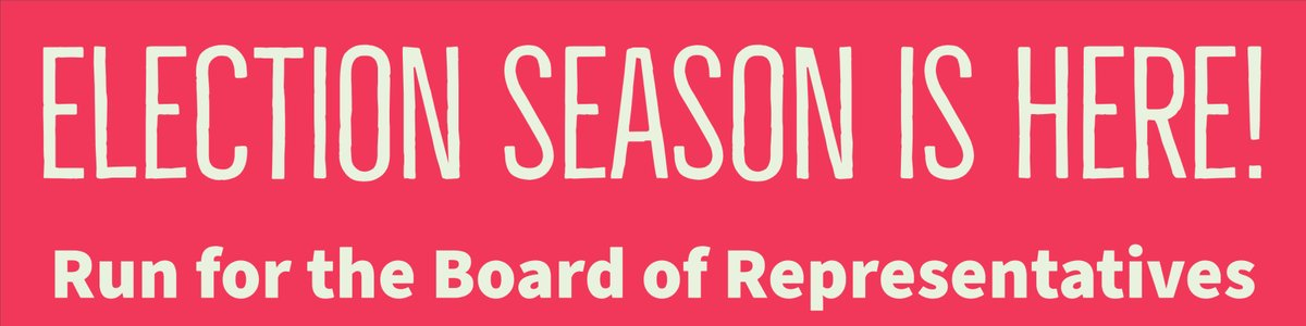 Nominations are open to serve on our Board of Representatives! https://t.co/saLVbuurhf https://t.co/BqN7bvv9JX