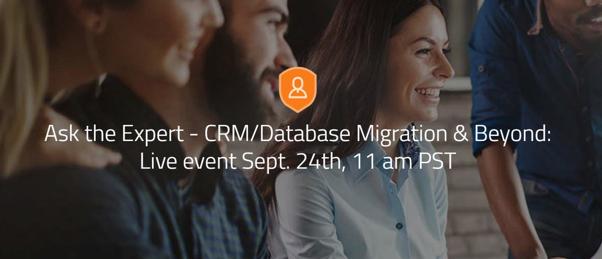 Join our next #AskTheExpert event on Thursday, Sept 24 at 11am PT to learn how to migrate your #nonprofit to a #CRM #database. @meetmaureen will share tips and answer questions. Learn more: https://t.co/lpHQ9qbgH2 https://t.co/wmX56kPUHZ