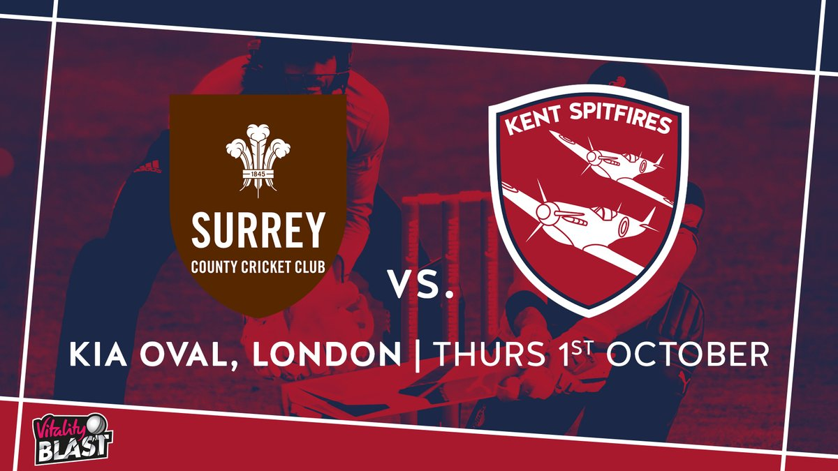 We will face Surrey in the Quarter Finals of @VitalityBlast 👊  #OldestRivalry 💥 #SuperKent https://t.co/zlxmW79RBk