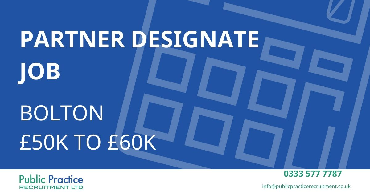 Calling all Partner Designates....  https://t.co/GzgKHjYzHO  #accountant #recruitment https://t.co/RMWKfMLSrW