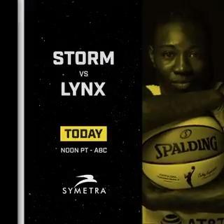 ⛈️🏀 𝙂𝘼𝙈𝙀𝘿𝘼𝙔 🏀⛈️  @WNBA Semifinals Game 1! 👊 🆚 @minnesotalynx ⏰ Noon PT 📺 @ABC  #StrongerThanEver x @Symetra