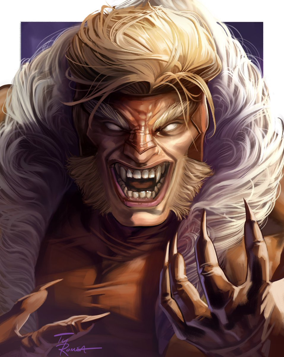 SABERTOOTH! ❌-Men portrait 34. Thanks for looking 🙌 #xmen #sabertooth https://t.co/vesUVZTEVm
