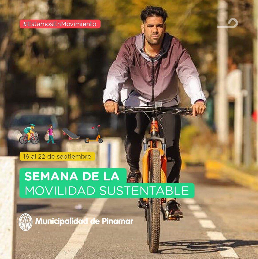 🚶🏻♂️SEMANA DE LA MOVILIDAD SUSTENTABLE 🚶🏻♀️  🛹 Te invitamos a trasladarte caminando, en bicicleta o en cualquier otro medio sustentable.   🚲 Sumate a la iniciativa!  👉Informate más en https://t.co/6bYl3FspZl • @martinyeza  #EstamosEnMovimiento #MoveteEnBici https://t.co/k9pYlUGUDv