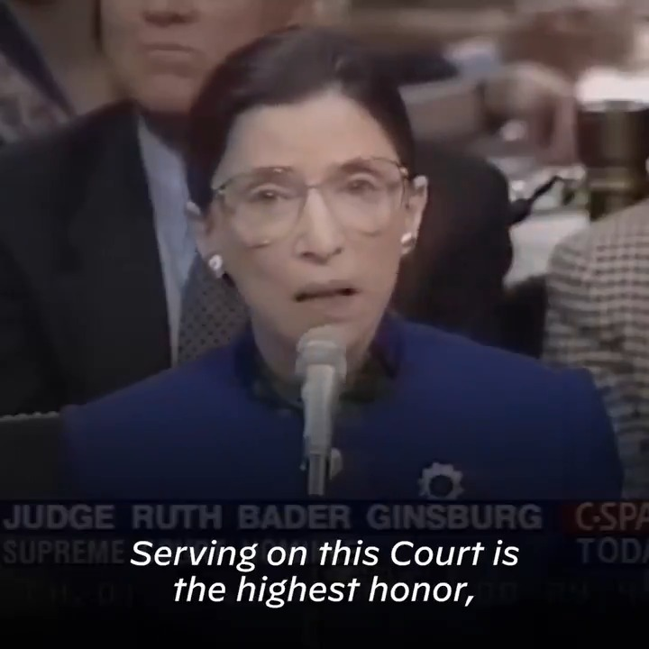 It was my honor to preside over Justice Ginsburg's confirmation hearings, and to support her accession to the Supreme Court. Her opinions, and her dissents, will shape the basis of our law for generations to come — and we'll be a more just and equal nation because of it.