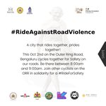Image for the Tweet beginning: #RideAgainstRoadViolence asking motorists to share