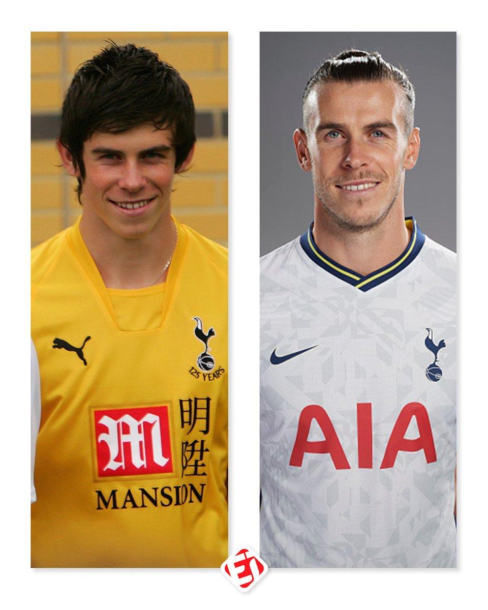 Gareth Bale em suas apresentações no Tottenham, em 2007 e em 2020. E aí, mudou muito?  . . #Bale #Tottenham https://t.co/VQUZtgZyIq
