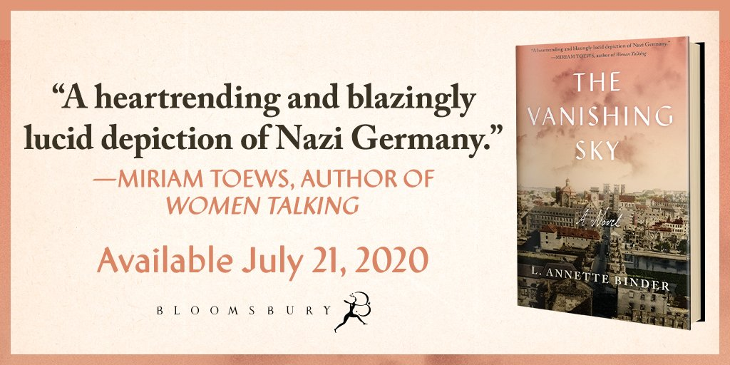 Told from the perspectives of each member of the Huber family, THE VANISHING SKY by L. Annette Binder is an intimate look at a German family during the height of World War II.   https://t.co/Cc4vNCMh50 https://t.co/dR9kuqeaN9
