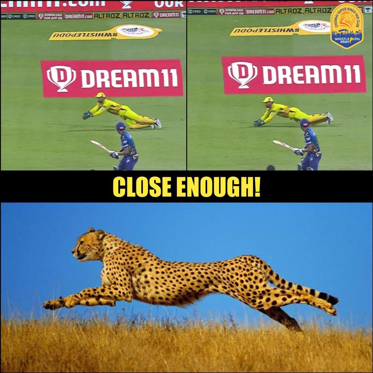 Fast. Faster. Fastest behind the stumps!   #WhistlePodu #Dhoni #CSK https://t.co/PmKlPRzU1j