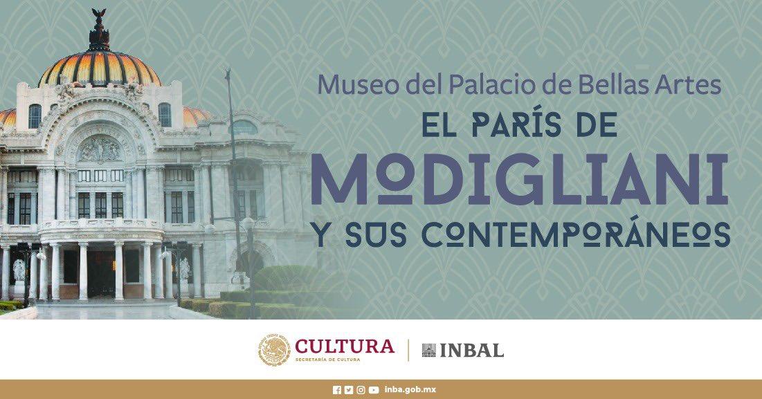 Ven a visitar #ElParisDeModigliani en horario de 11 a 17 h. Te recordamos que la entrada al @PalacioOficial es por la calle Ángela Peralta, frente al Metro Bellas Artes. Av. Juárez no está abierta a la circulación de vehículos. https://t.co/HdQbCtuRHD