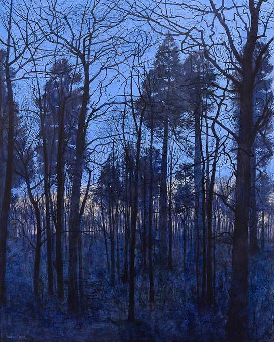 Twilight Landscape by Victoria Crowe, contemporary Scottish painter known for her portrait and landscape paintings #womensart