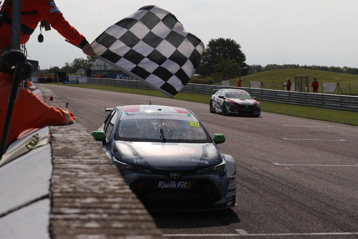 Another ICYMI! 🤩 Double win here at Thruxton for the @BTCC @ToyotaUK Gazoo Racing #corolla. Reverse grid has put us in a P8 grid position for the final race of the day with full ballast!! But we're ready to get stuck in! 💪Let's see where we get to.... https://t.co/9BO68tmOGd