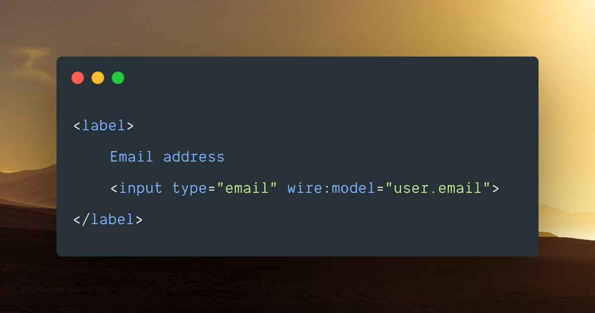 """If you didn't know, @LaravelLivewire now triggers """"updated"""" and """"updating"""" hooks for nested properties, which works with both array and model properties!"""
