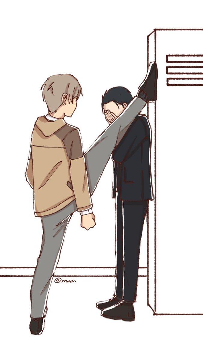 has anyone do this yet ,, ✨Daisuke got the flex and Haru got the flexibility✨ <333