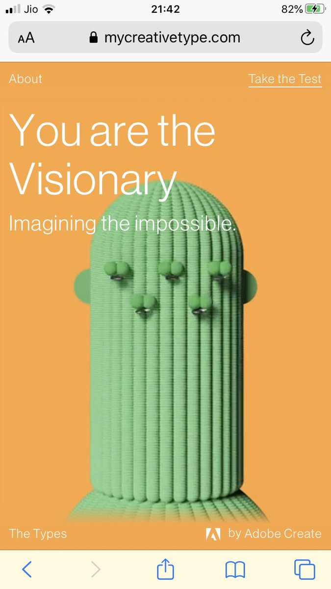 "Thank you @sbrownehr for sharing this. I just took this personality test, and that's what it says..that I'm a ""Visionary"" - Imagining the impossible. #Personalitytest #Reading #HR #Visionary #Traits https://t.co/mwzrDiWe66"