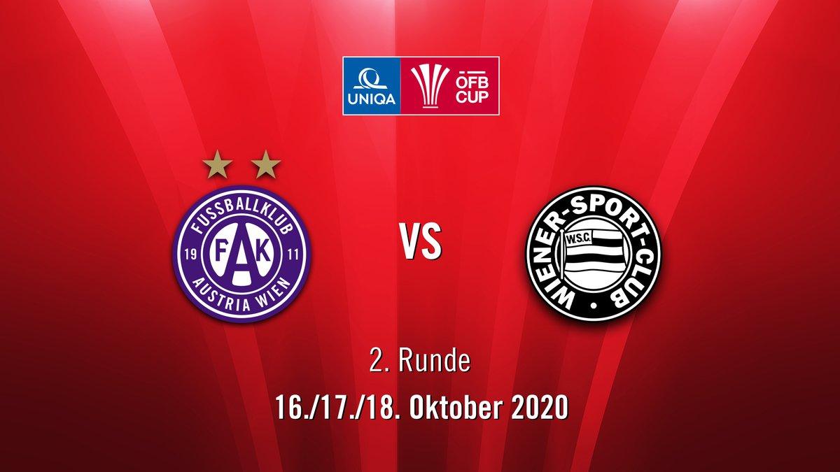 Schneller Exkurs: Austria Wien trifft in der 2. Runde des @oefb1904-Cups auf den @WienerSportClub!   Gespielt wird am 16./17./18. Oktober in der Generali-Arena. #faklive https://t.co/aOE5KJNDQ1