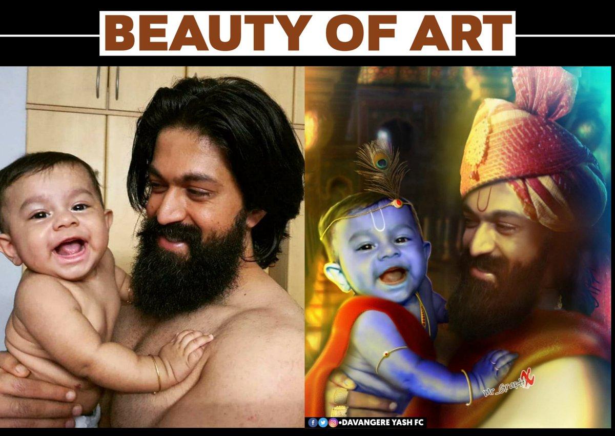Best Art Of #YashBoss & #Yatharv 😍❤️  #Yash #RadhikaPandit #NimmaRP #Ayra #YatharvYash @TheNameIsYash @RadhikaPandit7 https://t.co/5c5ac2fGtK