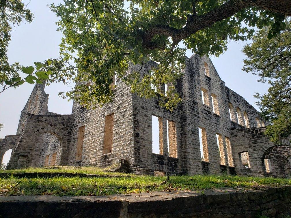 The ruins of Ha Ha Tonka castle, Missouri