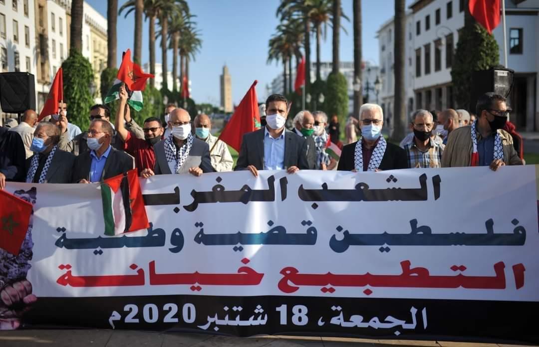 """أحرار المغرب يعلنون رفضهم التطبيع مع """"إسرائيل"""" في احتجاج سلمي.  إنكم والله لأشرف من حُكامنا الأنذال المتخاذلين. https://t.co/fzKrMqAi2P"""