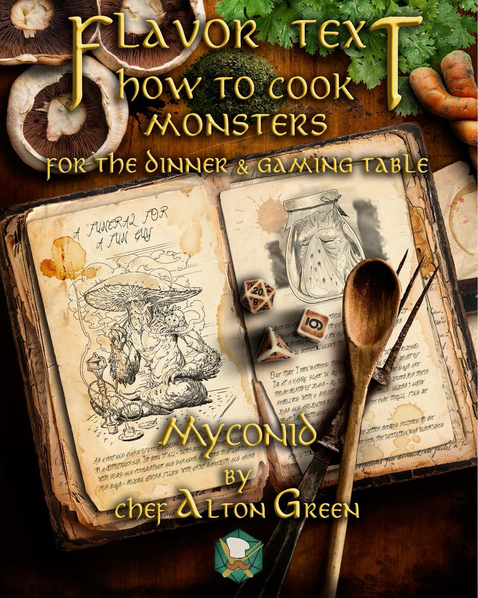 New downloadable PDF's of my #Myconid chapter are now on Patreon!   Thank you to all our old and new patrons! You're support means the world to us and we couldn't do any of this without you! 🍴👨‍🍳🔪 . #flavortext #flavortextadventures #dnd #dnd5e #dungeonmaster #recipes #mushrooms https://t.co/eHJYaZBIzn
