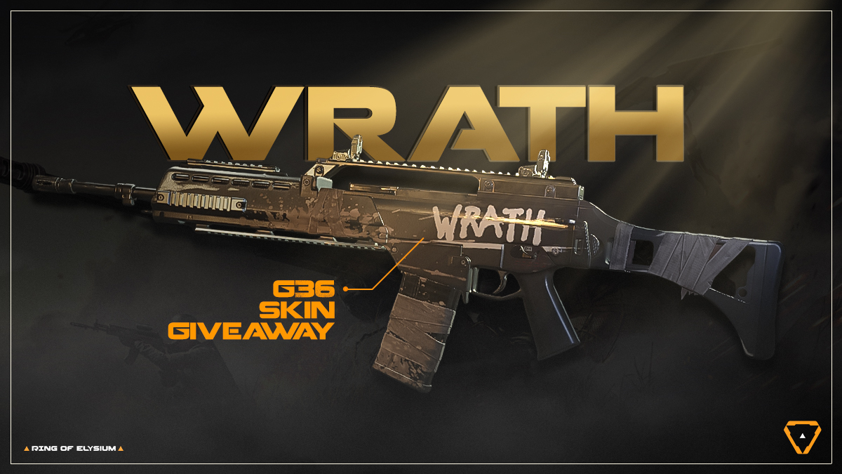 Get a FREE Wrath G36 skin in our latest skin giveaway! Offer ends October 9th - so grab it while you can! 🎁   🔗 https://t.co/Za70si9SuZ #RingOfElysium #PlayROE https://t.co/Fz7C8RWFur