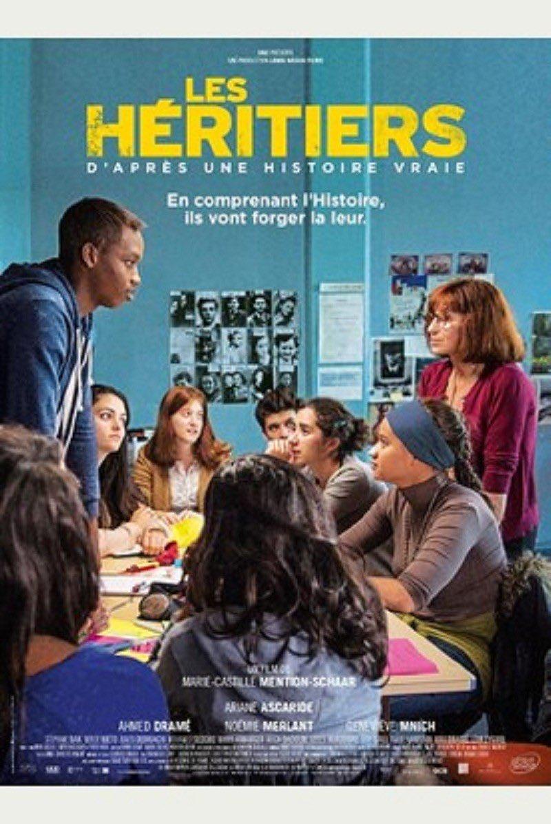 Le film Les Héritiers m'avait été vivement recommandé par de nombreux enseignants du secondaire.   Je viens enfin de trouver le temps de le visionner. C'est vraiment un excellent film. Il mériterait d'être montré dans toutes nos classes de 3e. https://t.co/eLd9iCGTxl