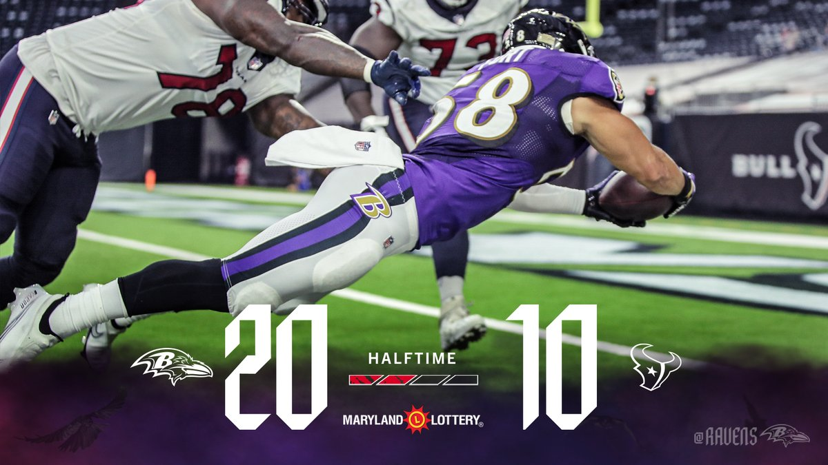 We're up 20-10 as we head to the locker room. https://t.co/di6godG7w7