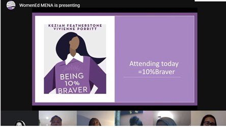 """Spoke with the amazing @leisagrace and @nubianamedia to talk about what motivates them. """"Don't let you and your self doubt become your biggest obstacle."""" So many powerful messages... #WomenEd #WomenEdMENA https://t.co/jaa8EpCVzI"""