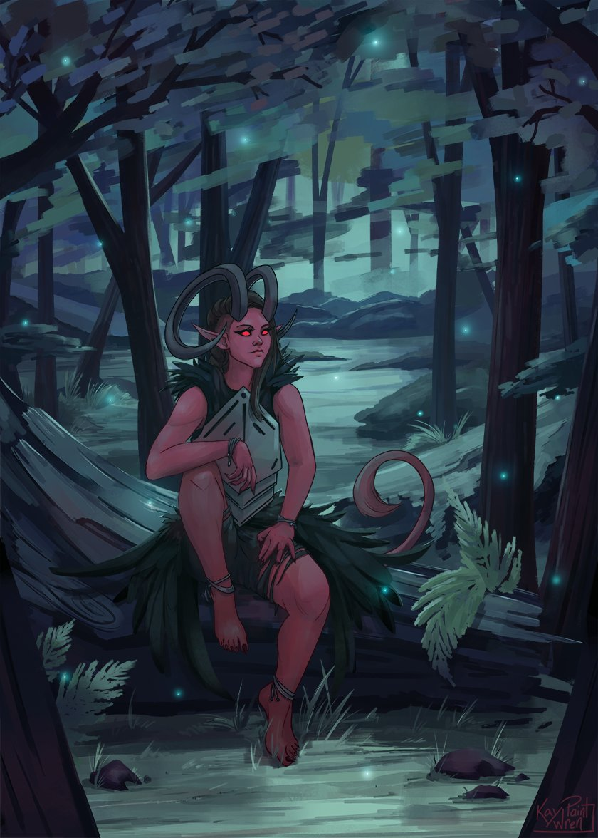 ✨Forest Lights✨ If she invited you to sit, would you accept? #digitalart #TTRPG https://t.co/pxzB9E6U4p