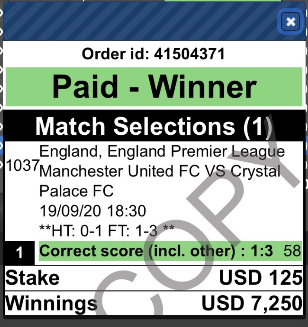 man of the match betting twitter stock