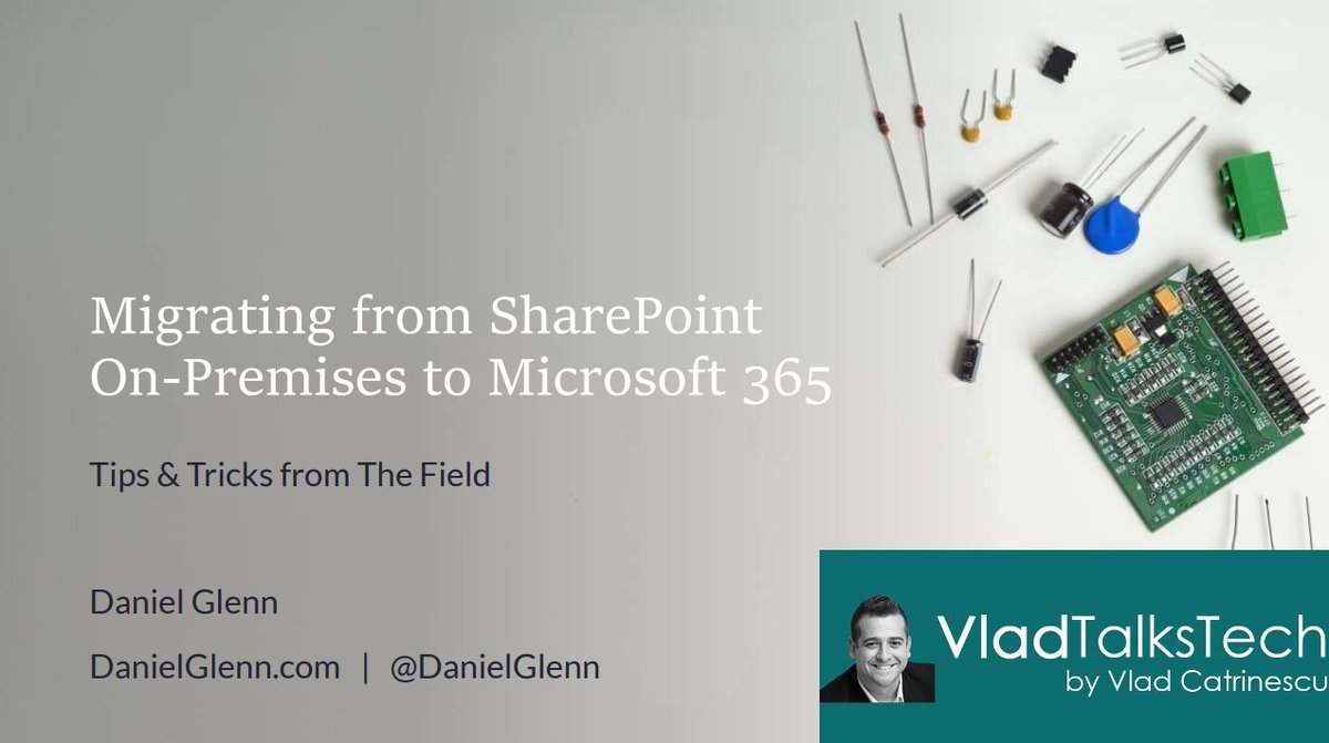 Migrating from On-Premises to #Microsoft365? Check out this webinar recording with  #MicrosoftMVP @DanielGlenn & myself covering the tips and tricks from the field to achieve a sucesfull migration   https://t.co/bDMR6n1e4U https://t.co/sI3pKpP2jz
