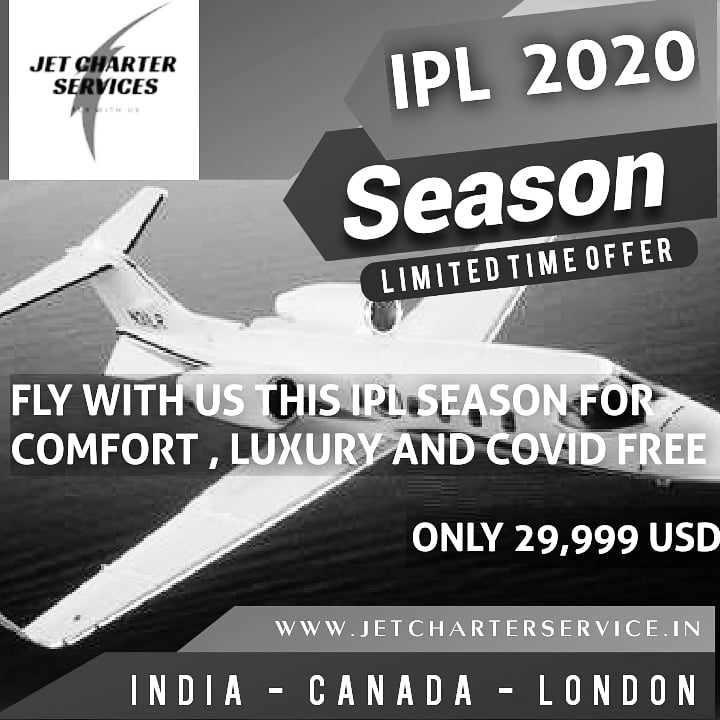 #Jet #Charter #Service are providing special charter #flights to #Dubai, #Abudhabi #UAE and #Sharjah from worldwide locations.   Contact us for any #charter related query: info@jetcharterservice.in  +91-11-4167-8844  #IPL2020 #Charter #Match #covidsafety #CoronavirusPandemic https://t.co/BEhYzzFPfr