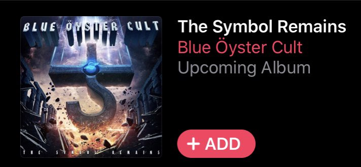 Look: it's safe to say 2020 hasn't been the best year. More like a garbage fire than anything else.  BUT-  The Blue Öyster Cult have a NEW ALBUM coming out. 14 new tracks by the BöC.   I. Am. Stoked.   #BlueÖysterCult #BlueOysterCult #BöC #BOC #TheSymbolRemains https://t.co/7uldIAZfE6